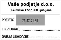 Printer 55 Računovodska datirka - 1 - 60x40 mm