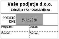 Printer 55 Računovodska datirka - 2 - 60x40 mm