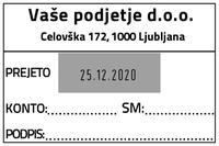 Printer 55 Računovodska datirka - 3 - 60x40 mm